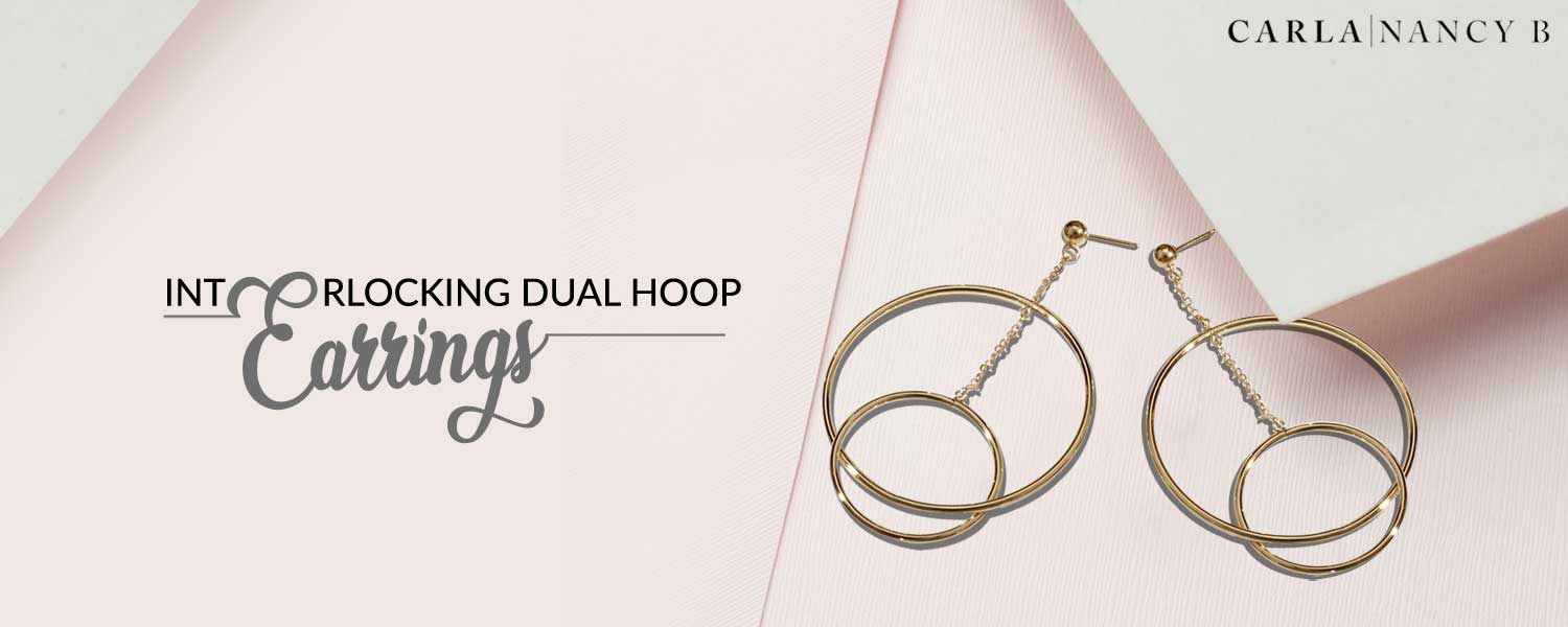 Interlocking Dual Hoop Earrings At Ed White Jewelers